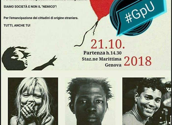 MANIFESTAZIONE ANTIRAZZISTA clici . Genova porto umanità // 21 Ottobre 2018