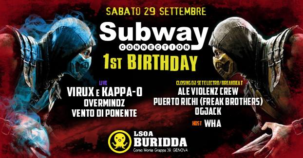 Hardcore NIGHT Subway 1st Birthday // 29 Settembre 2018