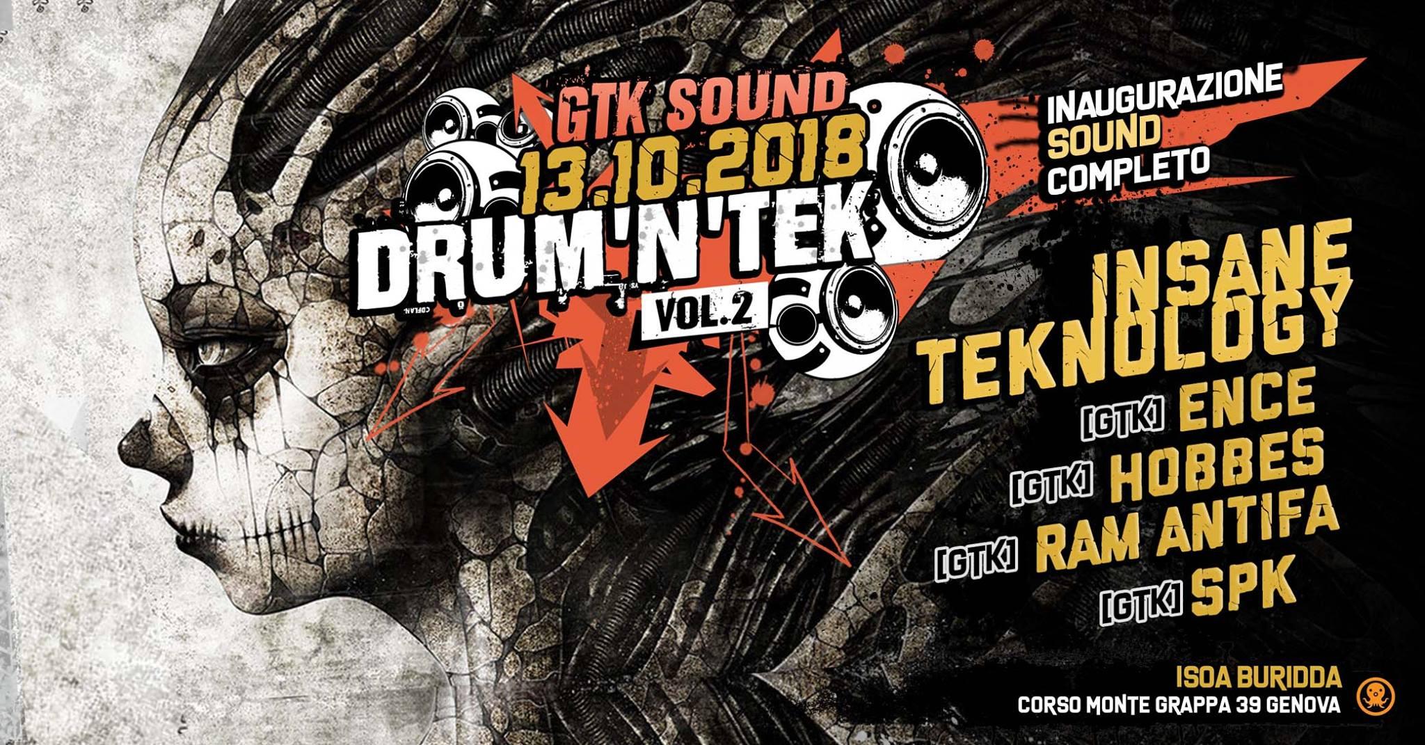 GTK Drum'n'Tek Party Vol. 2 // 13 Ottobre 2018