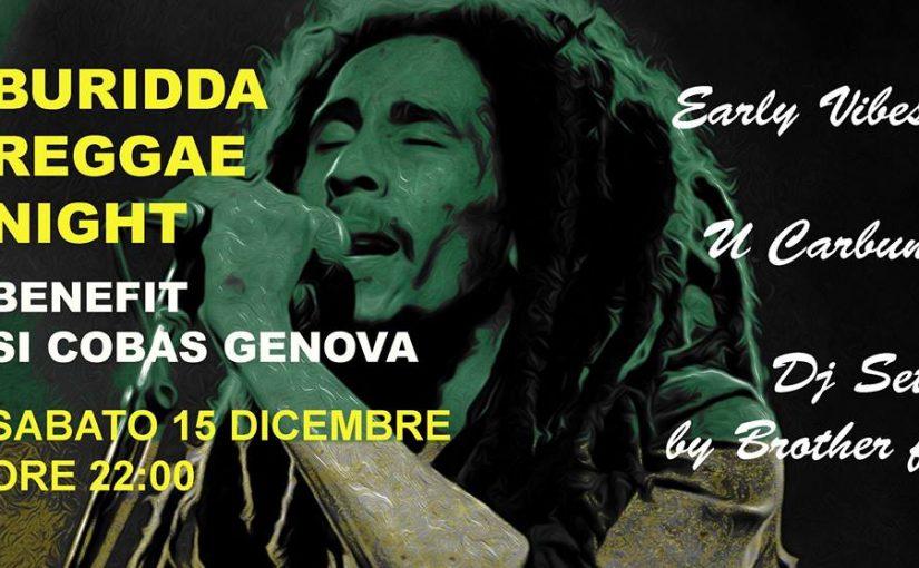Reggae Night benefit SI Cobas Genova // 15 Dicembre 2018