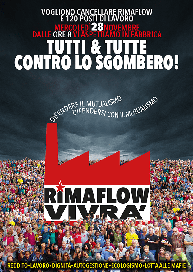 TUTTI & TUTTE CONTRO LO SGOMBERO di RIMAFLOW !