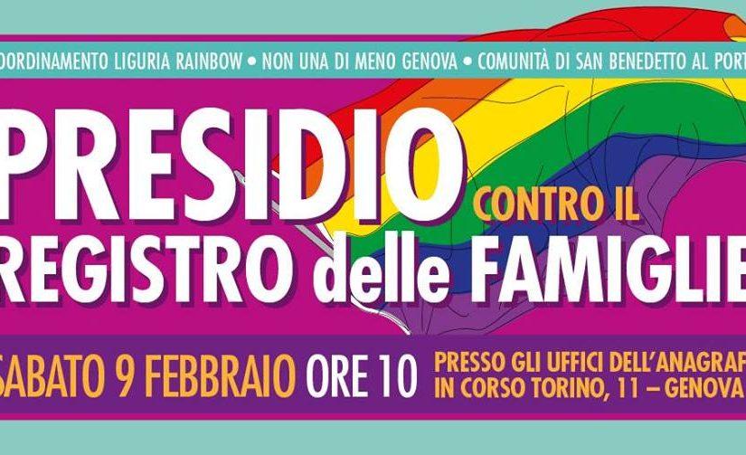 Presidio contro il Registro delle Famiglie // 9 Febbraio 2019