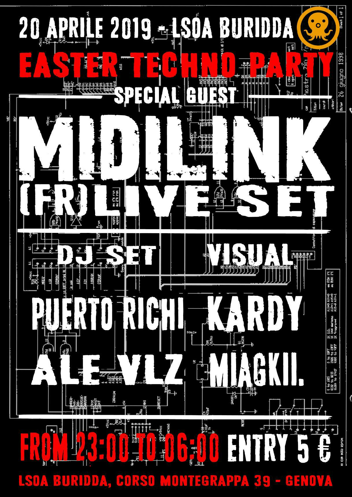 Easter Techno Party____MIDILINK Live set (fr) // 20 Aprile 2019